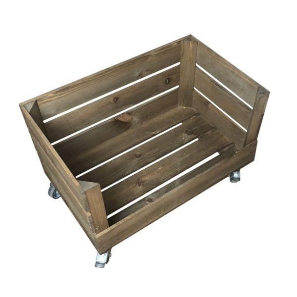 Mobile Drop Front Rustic Crate 525x325x3300