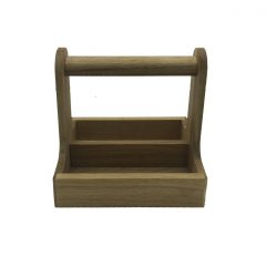 oak cutlery caddy 255x195x245 side view