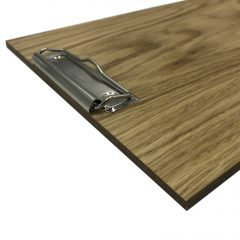oak veneered clipboard with clip 230x320x6 detail