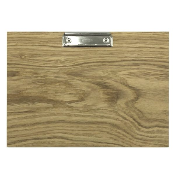 A4 Landscape Oak Veneered Clipboard 320x230x6