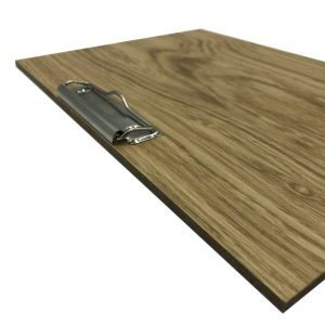 oak veneered clipboard with clip 320x230x6 detail
