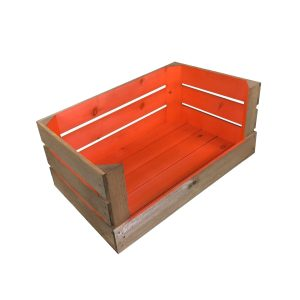 orange colour burst drop front crate 525x325x320