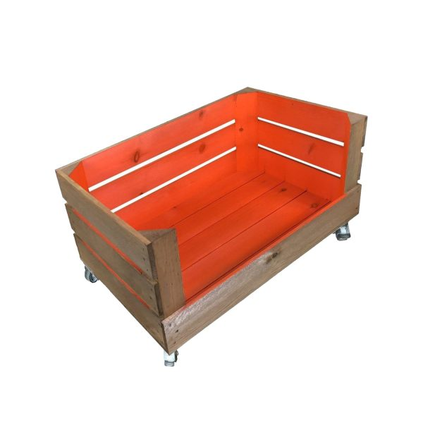 orange mobile colour curst drop front crate 525x325x330