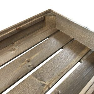 shallow rustic cushion seat crate 525x325x90 detail