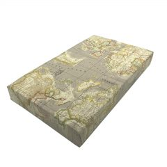 taupe vintage mixed up world map cushion lid 525x325x65