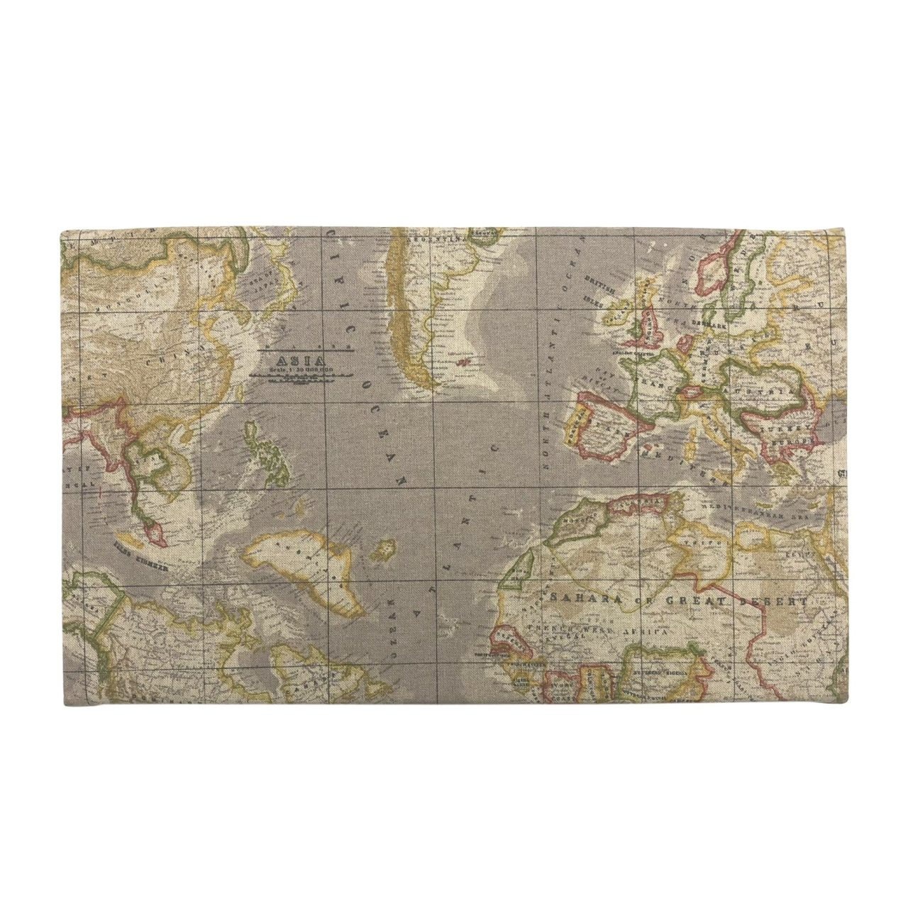 Taupe vintage mixed up world map cushion seat storage into seating taupe vintage mixed up world map cushion lid 525x325x65 top view gumiabroncs Images