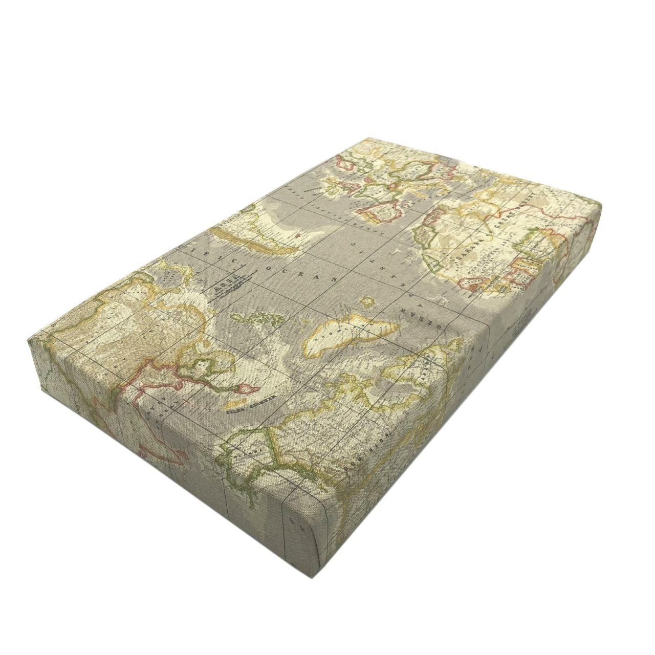 Taupe vintage mixed up world map cushion seat storage into seating taupe vintage mixed up world map cushion lid 525x325x65 gumiabroncs Images