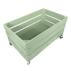 tetbury green mobile painted cushion seater crate 525x325x330
