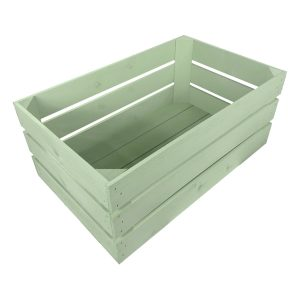 tetbury green painted cushion seater crate 525x325x250