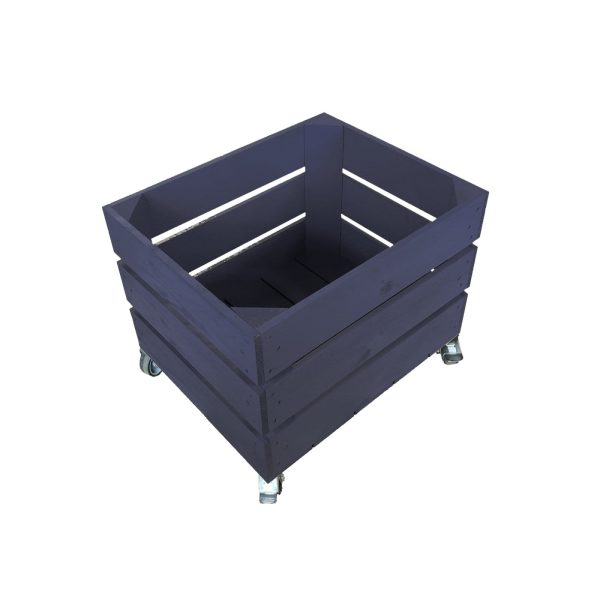 Kingscote Blue Mobile Painted Crate 300x370x330