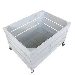 Nailsworth Blue Mobile painted crate 500x370x330