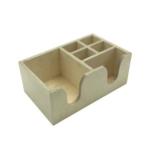Natural Rustic Cutlery & Napkin Holder 275x165x110
