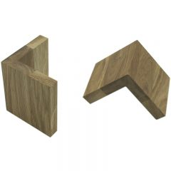 Oak L shape Risers 95x95x100 2