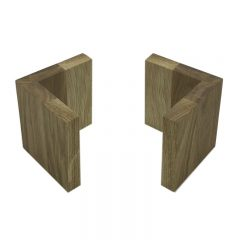 Oak L shape Risers 95x95x100 3