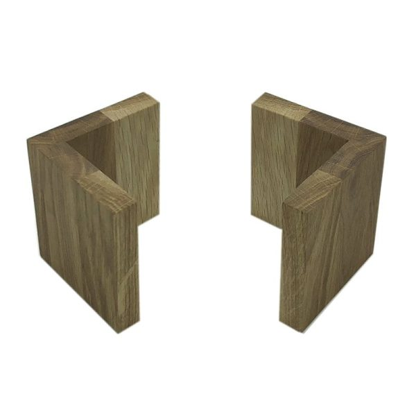 Oak L shape Risers 95x95x100 3