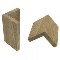 Oak L shape Risers 95x95x150 2