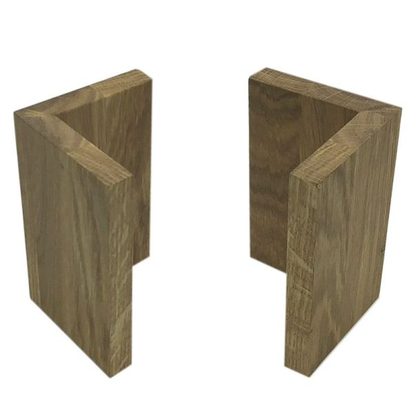 Oak L shape Risers 95x95x150 3
