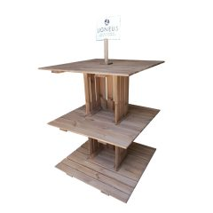 Rustic Brown Rustic 3-tier modular display stand 1000x1000x1260