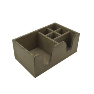 Rustic Brown Rustic 6 Compartment Cutlery & Napkin Holder 275x165x110