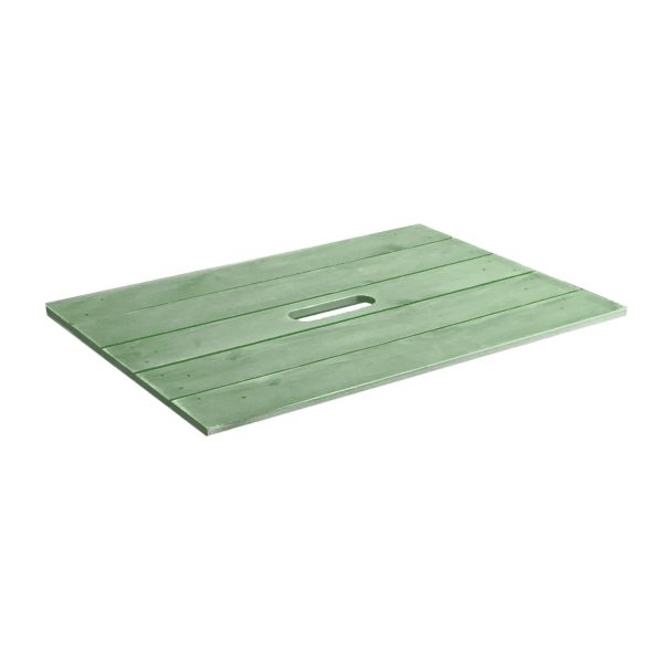 Tetbury Green Painted crate lid 600x370x18