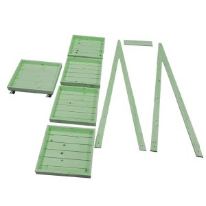 Mobile Flat Pack Painted 5-Tier Slanted Wooden A-Frame Display Stand 486x530x1765