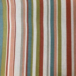 Coral Funky Stripe Cushion Crate Lid 505x305x60