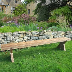 double sleeper garden bench