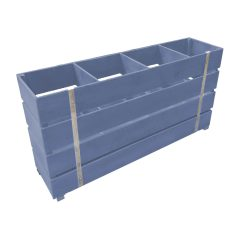 kingscote blue painted 4 Bin Impulse Merchandise Display Stand 1200x300x640