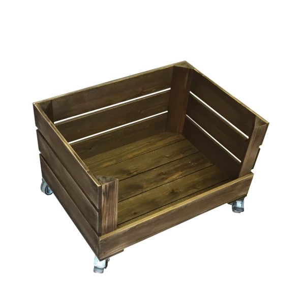 mobile drop front rustic crate 500x370x330