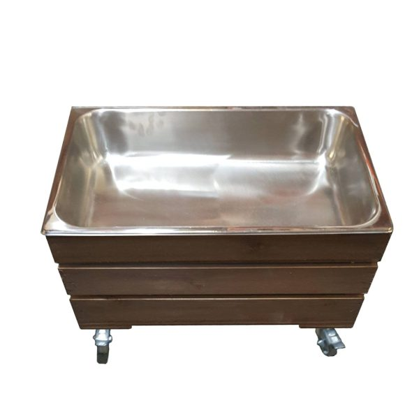 mobile rustic gastronorm crate 525x325x330