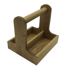 oak cutlery caddy 257x225x245