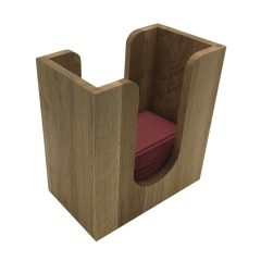 Oak Napkin Holder 225x132x240