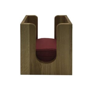oak napkin dispenser 225x132x240 with napkins front view