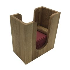 Oak Napkin Dispenser with Rollers 225x132x240