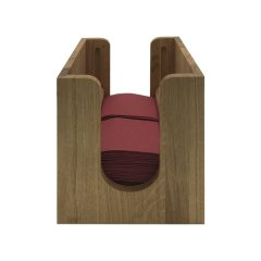 oak napkin dispenser with rollers 225x236x240 front view