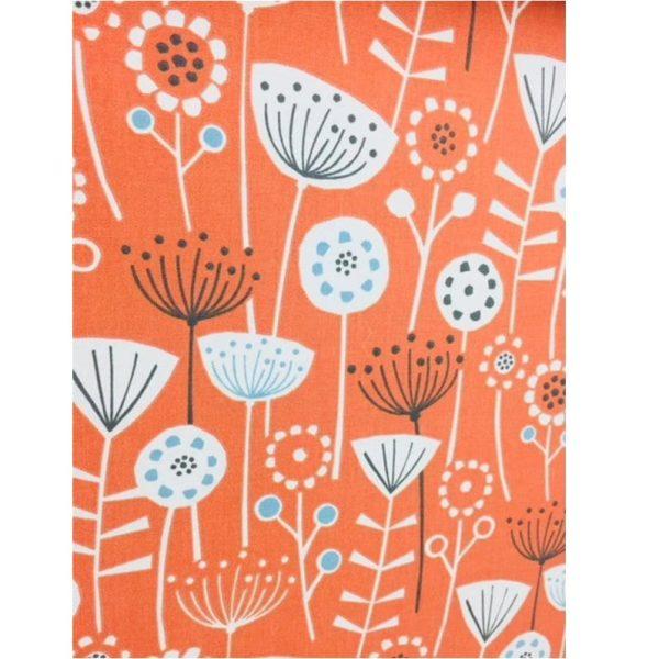 orange scandi flower