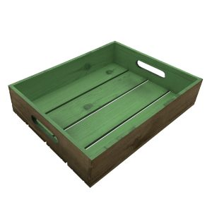 tetbury green colour burst tray 375x290x80