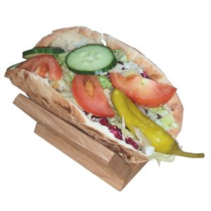 Oak Pitta Bread Holder 128x96x70 with salad pitta