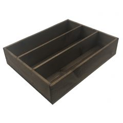 Rustic Brown Rustic 3 Compartment Cutlery & Condiment Holder 375x290x80