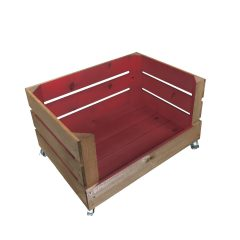Sherston Claret mobile colour burst drop front crate 500x370x250