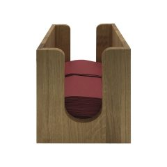 oak napkin dispenser 225x236x240 front view