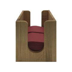 oak napkin dispenser 225x236x240 front view
