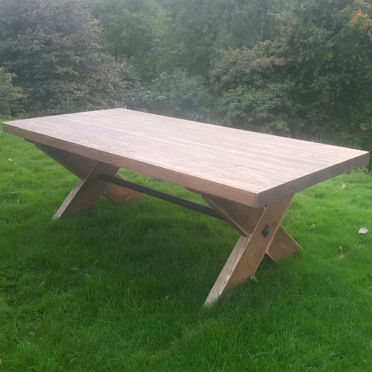8ft Rustic Garden Table Add A Touch Of Class To Your Garden Ligneus Designs