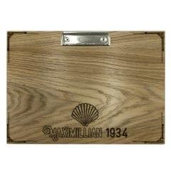 Maximillian 1934 A4 oak veneered clipboard with clip 320x230x6