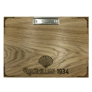 Maximillian 1934 A4 oak veneered clipboard with clip 320x230x6