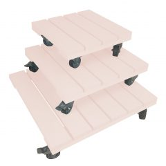 Cherington Pink painted pot stand set