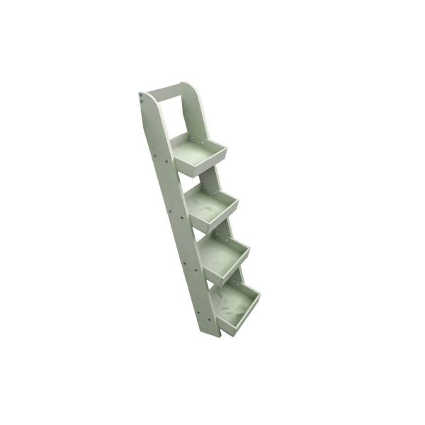 Frampton-Green-Painted-Slim-4-tier-slanted-tray-wall-ladder-display-stand-316x352x1135