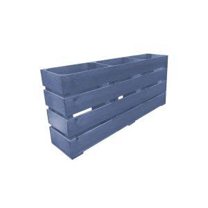 Kingscote Blue Painted Mini 3 Bin Impulse Merchandise Countertop Display Stand 800x180x360