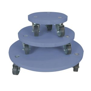 Kingscote Blue painted round pot stand set