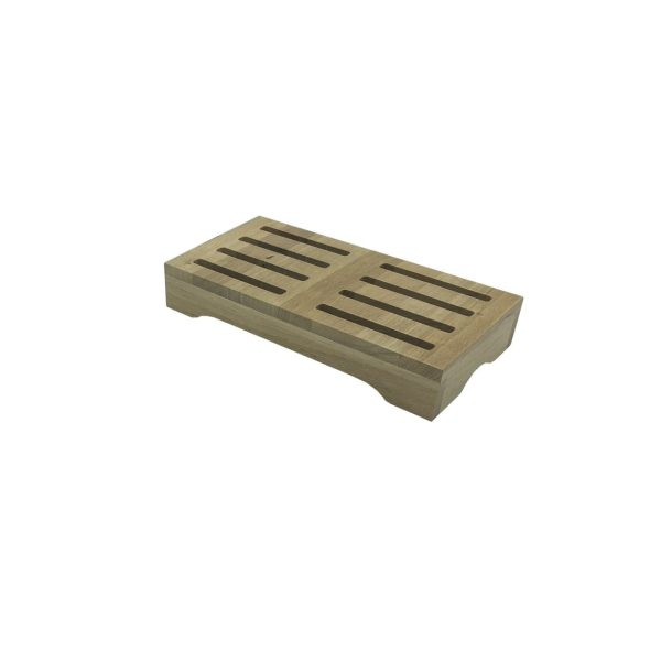 Lacquered oak GN1-3 Slatted Riser 170x325x54